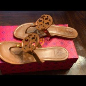 Tory Burch Miller Sandals Vintage Vachetta Size 10